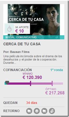 CERCA DE TU  CASA APORTE 10 EUROS